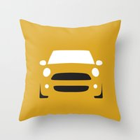 mini cooper Throw Pillows featuring Mini Cooper ( 2007 ) by Nick Steen