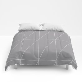 Grey Triangles by Friztin Comforters