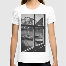 Through the Window (Black and White) T-shirt