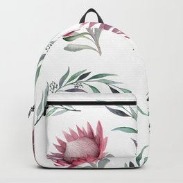 Protea and Gum Leaves Backpack