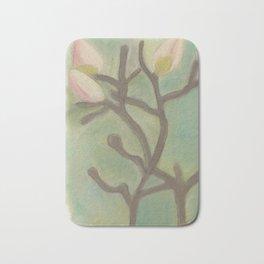 Subdued Magnolia Floral Bath Mat