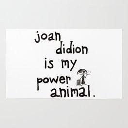 joan didion is my power animal Rug