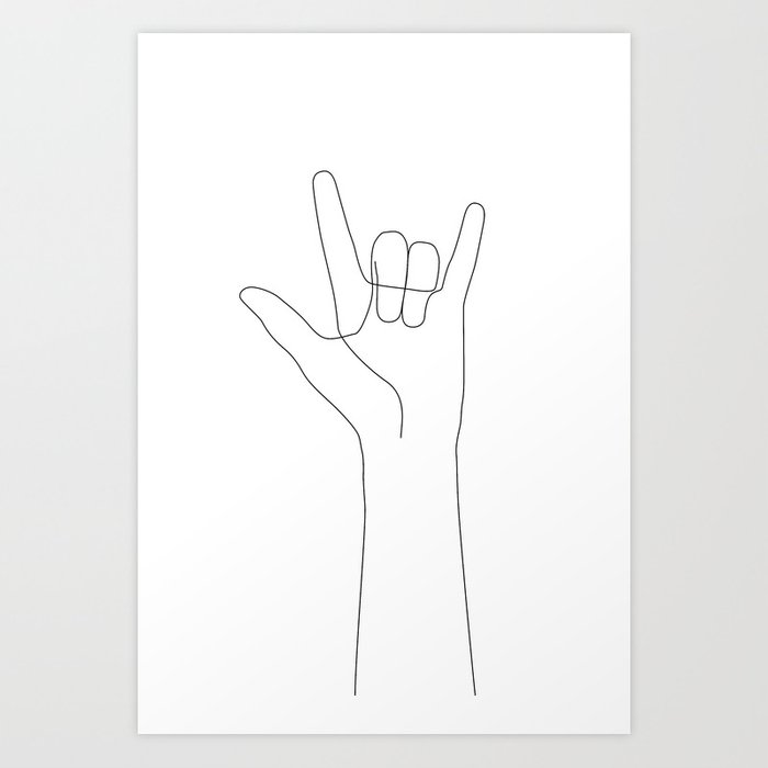 Love Hand Gesture Kunstdrucke