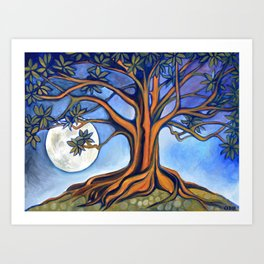 Milk Moon Rising Art Print