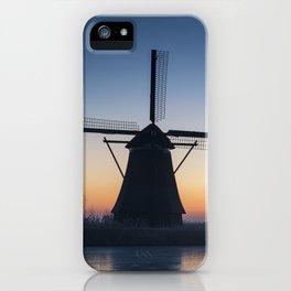Windmills at Sunrise IV iPhone Case
