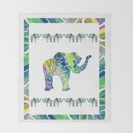 Patchwork Elephant Throw Blanket