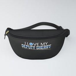 I Love My Deputy Sheriff Mom Thin Blue Line Fanny Pack