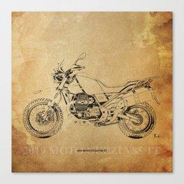 236-2019 Moto Guzzi V85 TT original artwork for bikers Canvas Print