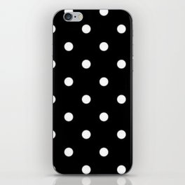 Black And White Polka Dot Art iPhone Skin
