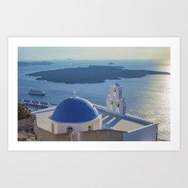 Santorini Island, Greece Art Print