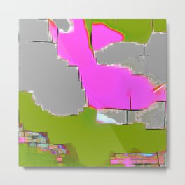 Abstract #13 in Green Metal Print