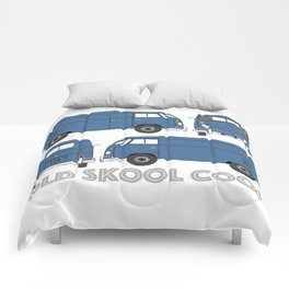 old skool cool – vintage commercial panel van in Dove Blue Comforters