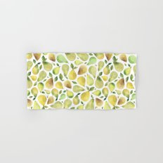 Watercolour Pears Hand & Bath Towel