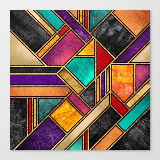 Colorful City Night Canvas Print