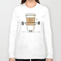 strong Long Sleeve T-shirts featuring Strong Coffee by Picomodi