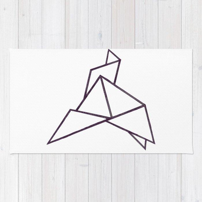 Origami Bird Rug By Bridgetdavidson Society6