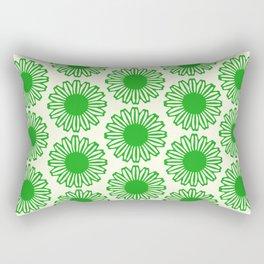 vintage flowers green Rectangular Pillow