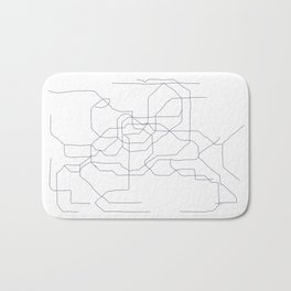 Seoul Subway Bath Mat