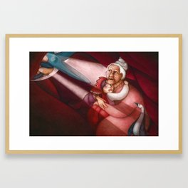 Stomach and Scissors Framed Art Print