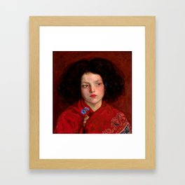 "F. Madox Brown ""The Irish Girl"" Framed Art Print"