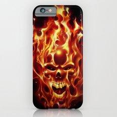 Flaming Skull Slim Case iPhone 6s