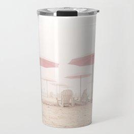 Foggy Beach Travel Mug