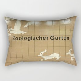 Berlin U-Bahn Memories - Zoologischer Garten Rectangular Pillow