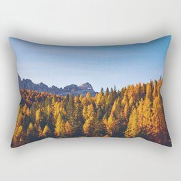 The Pine Tree Forest (Color) Rectangular Pillow