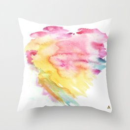 PINK TIDE WATERCOLOR Throw Pillow