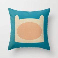 Minimalist Adventure Time Finn Throw Pillow