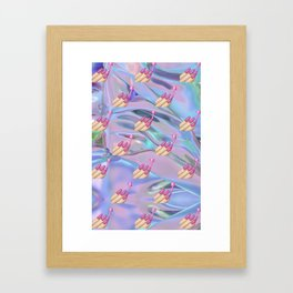 Nail Polish Emoji Holographic Framed Art Print