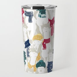 Happy llamas Christmas choir Travel Mug