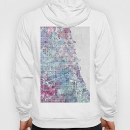 Chicago map Hoody