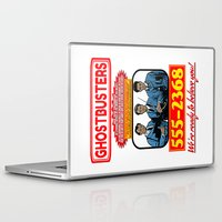 ghostbusters Laptop & iPad Skins featuring Ghostbusters Advertisement by Silvio Ledbetter