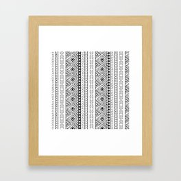 White Mudcloth Framed Art Print