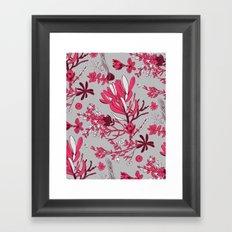 Fuchsia Cradle Flora Framed Art Print