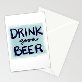Drink Good Beer Stationery Cards