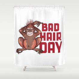 Bad Hair Day Shower Curtain