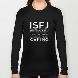 ISFJ (black version) Long Sleeve T-shirt