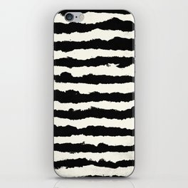 Horizontal Ivory Stripes iPhone Skin