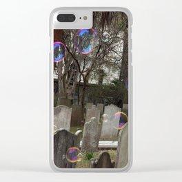 Graveyard Bubbles Clear iPhone Case