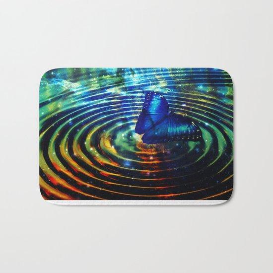 The Butterfly Effect in Blue Bath Mat