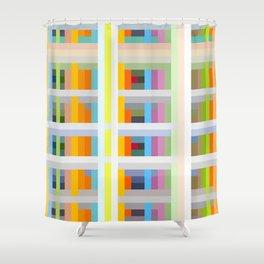 colorful geometric pattern design Negret Shower Curtain