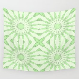 Pastel Green Pinwheel Flowers Wall Tapestry