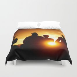 Golden pilgrims Duvet Cover