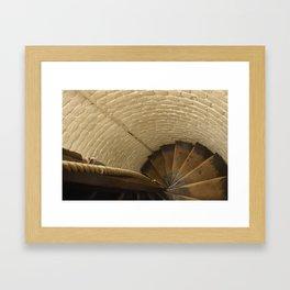 Mind your step. Framed Art Print