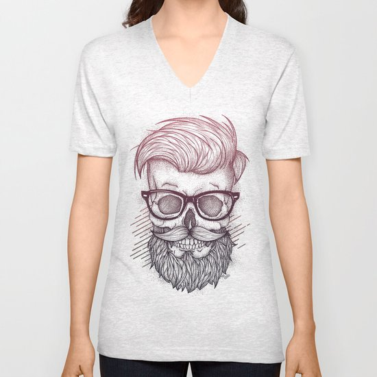 Hipster is Dead Unisex V-Neck