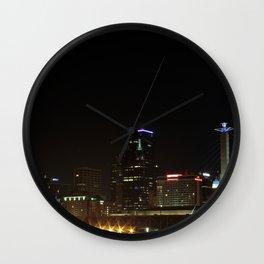 Bright Lights at Night Wall Clock