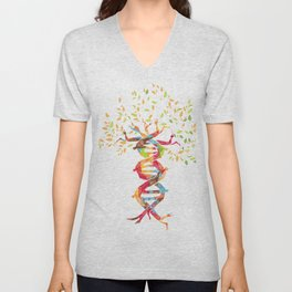 Tree of Life Tee, DNA product, Genetics design Unisex V-Neck