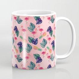 Tropical, Flamingo, Pineapple, Summer Fling Coffee Mug